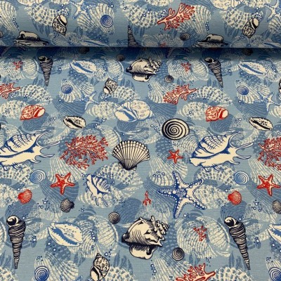 Curtain and upholstery with maritime design
