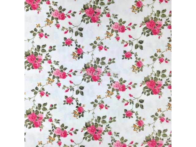 Плат за плътна завеса с розови рози
