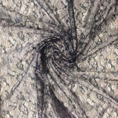 Плат за тънко перде тип мрежа в сиво с фистон