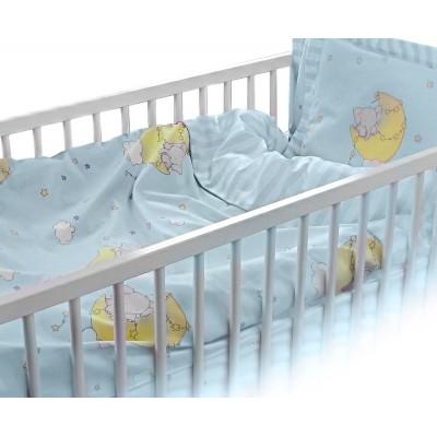 Бебешки спален комплект Слон в синьо