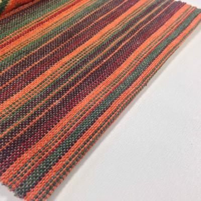 Дамаска с десен тип черга в оранжево, зелено и червено