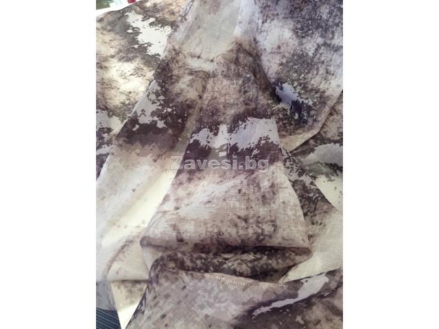 Плат за тънко перде с камуфлажен ефект в светло кафяво