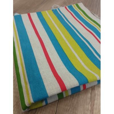Piece fabric colorful stripes 0,50cm