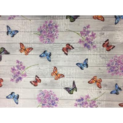 Плат за плътна завеса с пеперуди