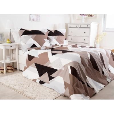 Единичен спален комплект от ранфорс Шоколад
