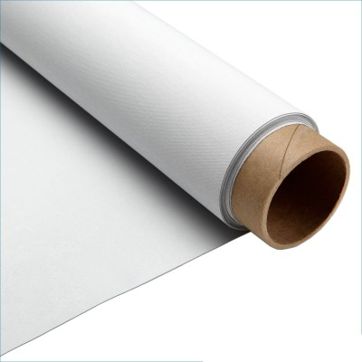 Затъмняващ гумиран плат за плътна завеса - Блекаут в бяло