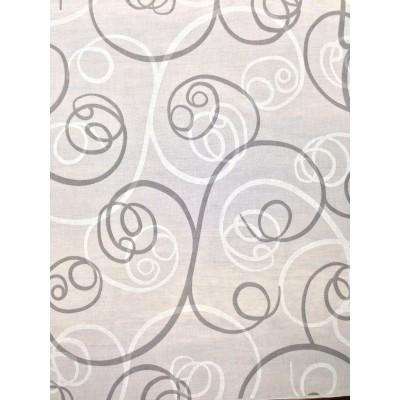 Плат за тънки пердета със спираловидни елементи в сиво