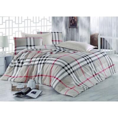 Двоен спален комплект с два плика ранфорс Каре