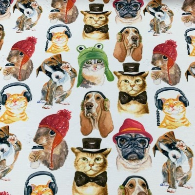 Curtain and upholstery with digital print Animals