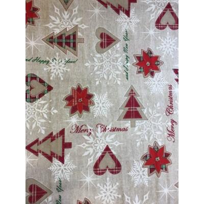 Коледен плат за покривки Турон