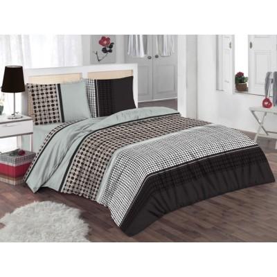Двоен спален комплект с два плика ранфорс Реми