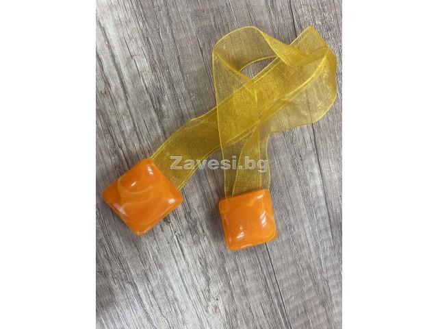2 броя магнити за пердета в оранжево