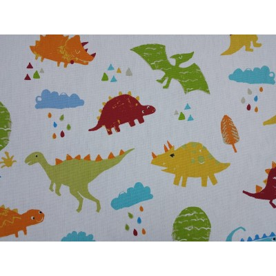 Curtain for children with colorful dinosaurs
