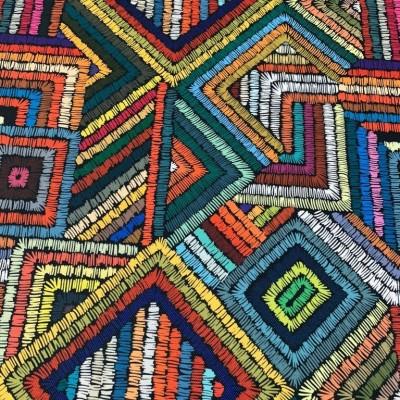 Дамаска с дигитален печат Цветни шевове