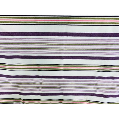 Piece fabric with purple stripes 0,90/2,80m