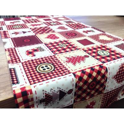 Коледен тишлайфер с червено каре 50/135