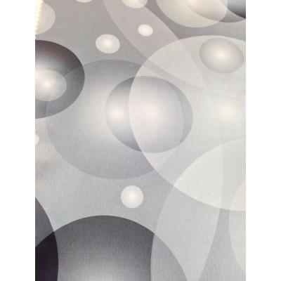 Негорим плат за плътни завеси с шарени кръгове