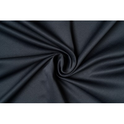 Single colour curtain in dark grey with design