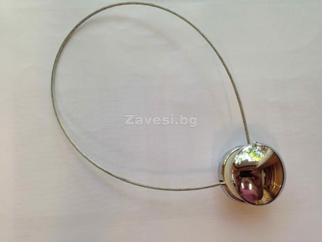 Магнитна щипка за пердета и завеси с дълъг метален шнур
