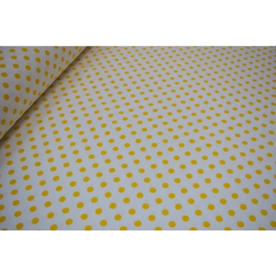 Curtain and upholstery with yellow dots
