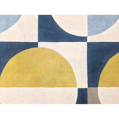 Плат за плътна завеса и дамаска ARC в синьо и жълто