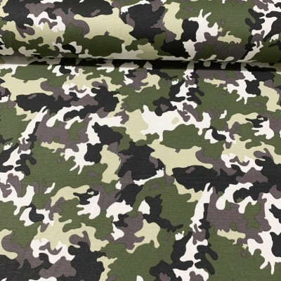 Curtain and upholstery Camouflage in green