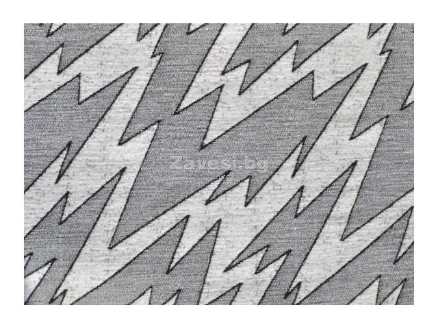 Дамаска Елеганс със шарка цвят сиво и бяло