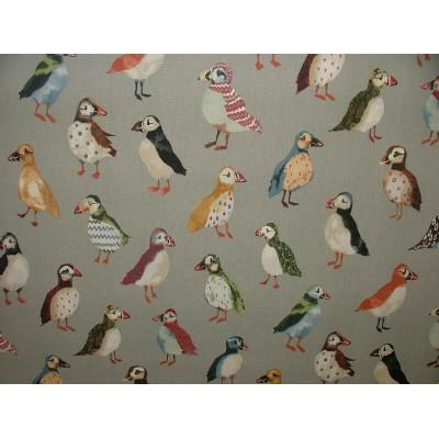 Плат за плътна завеса с птици Кайра