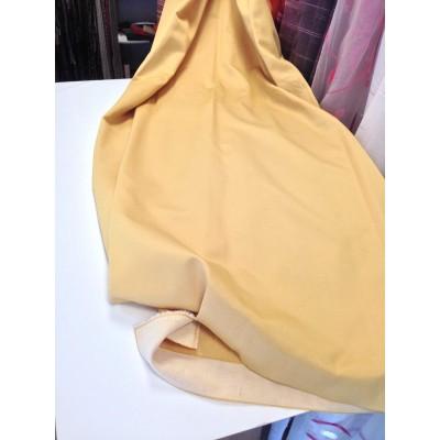 Парче плат памук сатен в тъмно жълто 2,10м