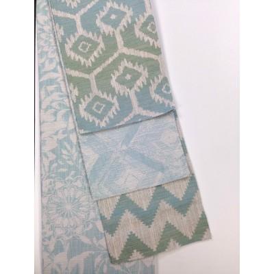 Луксозен жакардов плат за завеси и дамаска с различни десени в синьо