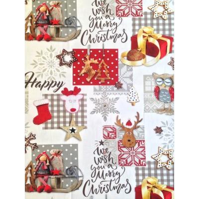 Коледен плат Happy Christmas