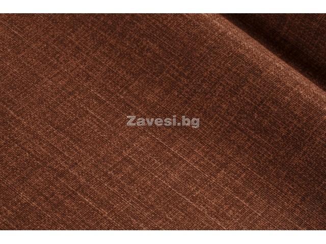 Плат за плътни завеси в кафяв цвят с дискретен десен