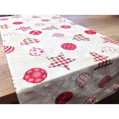 Коледен тишлайфер на елхи и играчки с размер 45/135