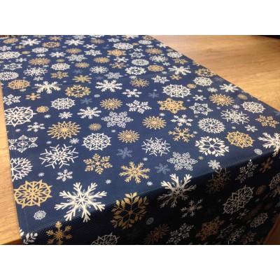 Коледен тишлайфер в синьо на снежинки 50/135