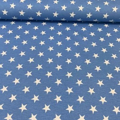 Дамаска със звездички на син фон