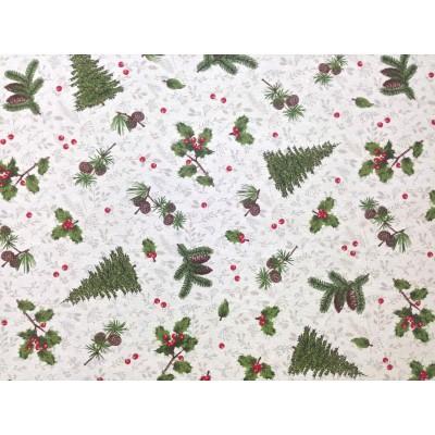 Коледен плат с тефлонирано покритие Елхи