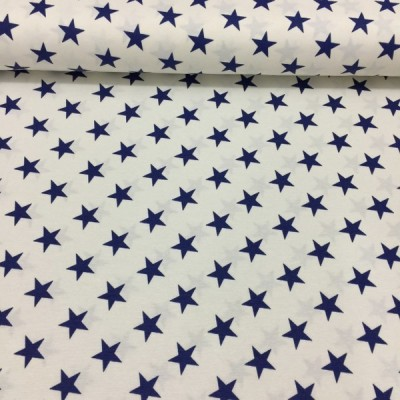 Curtain and upholstery with dark blue stars