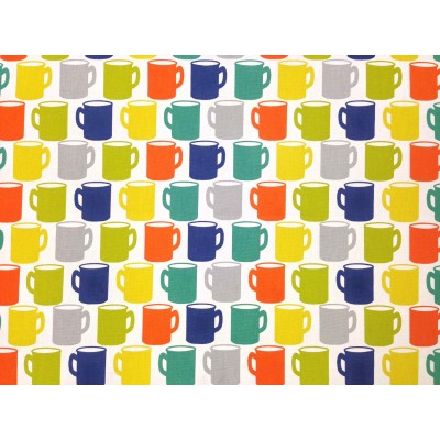 Curtain with colorful cups