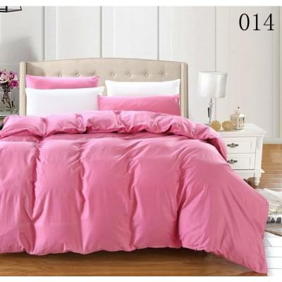 Единичен двуцветен спален комплект ранфорс в розово и бяло