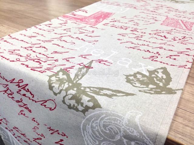 Тишлайфери с винтидж десен на червени надписи в няколко размера