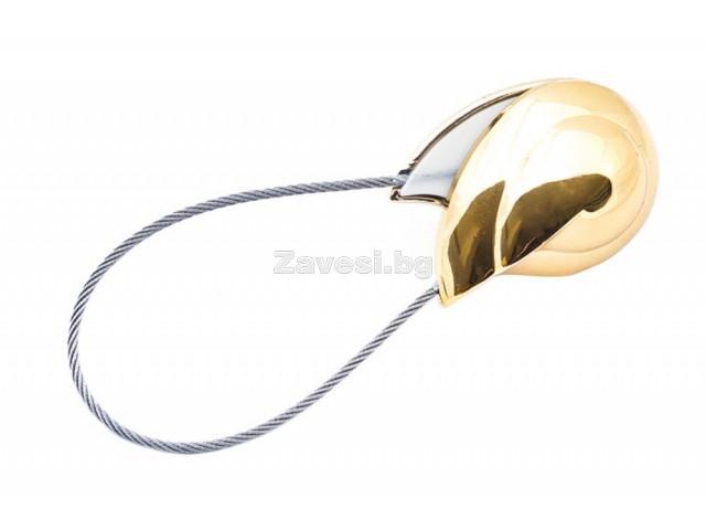 Магнитна щипка за пердета и завеси в златно