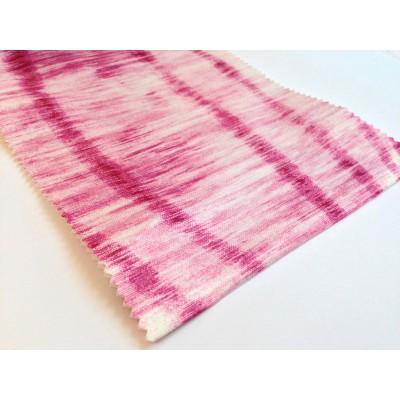 Негорим плат за плътни завеси с абстрактни шарки в розово