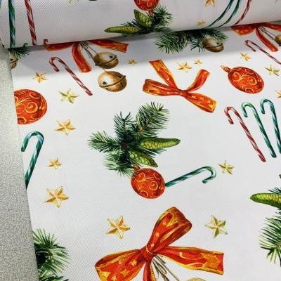 Коледен плат с панделки