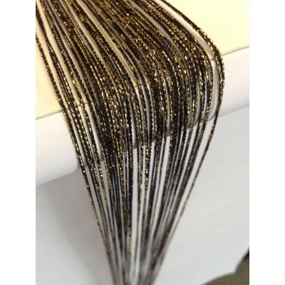 Ресни в черен цвят със златист брокат (ламе)