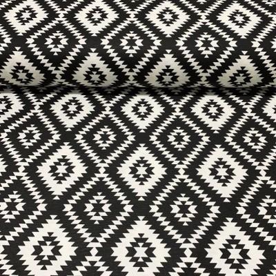 Дамаска с ромбоиди в черно и бяло