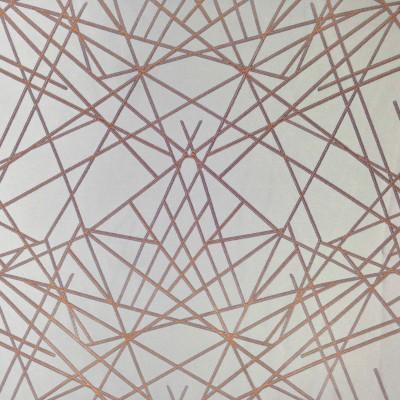 Сатениран плат за плътни завеси с оранжеви линии