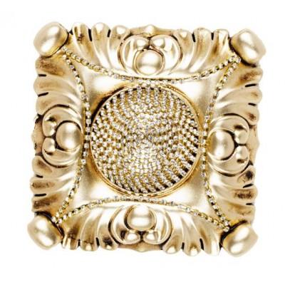 Декоративен квадратен държач за завеси в златисто