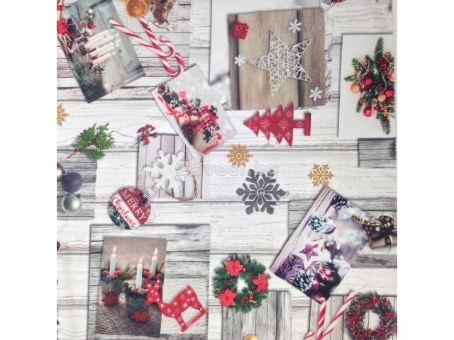 Коледен плат за плътни завеси и покривки Украса