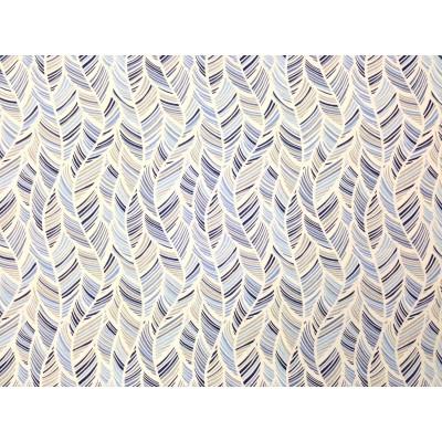 Дамаска с листа в синьо и сиво