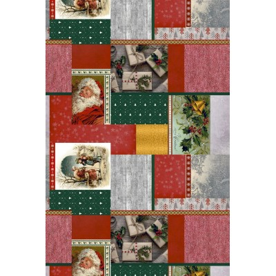 Christmas fabric for tablecloths Santa Claus